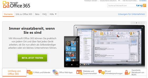 thingybob-Office-365-testen
